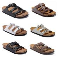 Floride 2020 Nouvelle Summer Beach Cork Sandales Sandales Casual double boucle Sandalias Femmes Hommes Slip sur Flip Flops chaussures appartements