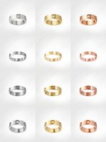 Quality Manufacturer Love Screw Ring Mens Rings Classic Luxury Designer Jewelry Women Titanium Steel Alloy Gold-Plated Gold Silver Rose Neve