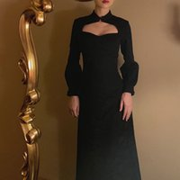 Block Vintge Dress Mulheres Elegnt Designer Prty Midi Dress Femle Cusl Slim Sexy Gótico Koren Dress New 2021 Womens Utumn