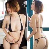 Sexy Set Women Micro Thong Underwear G-String Bra Bikini Brazilian Swimwear Sleepwear