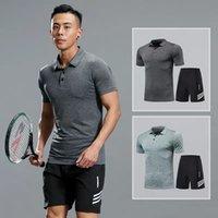 Homens Sportswear Compression Sport Ternos Quick Seco Seco Conjuntos de Roupas Sports Basculadores Treinamento Ginásio Fitness Tracksuits Fitness Set