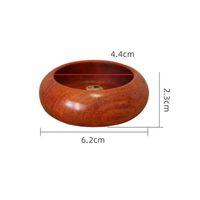 Rosewood Incense Queimador para Incense Sticks Censer com 4 furos Incense Holder Home Desk Decoração CCF6976