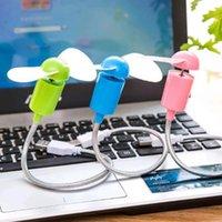 Diğer Ev Dekoru USB Mini Fan Esnek Bükülebilir Güç Bankası Için Laptop PC AC Şarj El Bilgisayar Dizüstü Masaüstü Soğutma Soğutucu