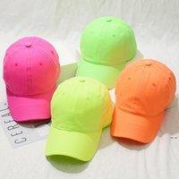 قبعة بيسبول الرجال النساء الكرة القبعات قابل للتعديل قبعات الرياضة في الهواء الطلق الحلوى اللون الهيب هوب snapback الصيف الشمس قناع رئيس ارتداء 4 اللون HWB5933