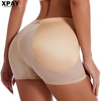 Women's Shapers Abdomen Pants Bottoming Boxer Fake Ass Plump Hip Fixed Sponge Body Tight-Fitting Waist Shaping Panties