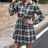 Vestido De Mujer Women's Dress Mid-Length Winter Waist-Length For Women Evening Party Mini Casual Dresses Plaid