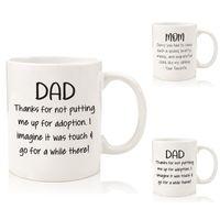 Keramikbecher Handbrief Becher Tasse Kaffee Milch Tee Drinkware Novetly Muttertag Vater Geschenke für Mutter Vati