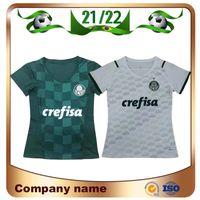 2021 Palmeiras Femme # 10 Moises Jersey de football 21/22 Maison Vert # 9 Chemise Borja Away White # 7 Uniforme de football fille Dudu