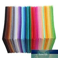 40 pçs / conjunto não-tecido de feltro tecido de poliéster pano de feltro diy pacote para costura boneca artesanato artesanato de espessura pano de feltro diy remendo