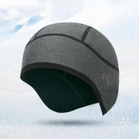 Cycling Caps & Masks Winter Warm Fleece Hats Helmet Liner Thermal Bicycle Cap Skullcap Beanie With Ear Covers For Running Skiing
