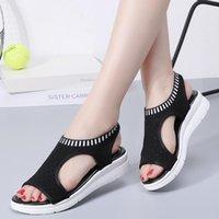 Agsdon Женщины Сандалии 2021 Женская Обувь Женщина Летний Клин Удобные Дамы Slip-on Flat Sandalias