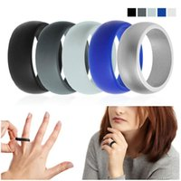 Wedding Rings 1pack Silicone Movement Couple's Sport Ring Round Solid Environmental Cool Comfortable #279340