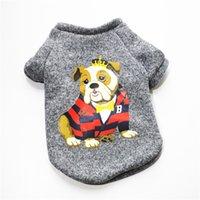 الكلب الملابس الخريف الشتاء الدافئة pet جرو الملابس للكلاب الصغيرة القطط chihuahua الصلصال yorkshire الحيوانات الأليفة الفرنسية البلدغ معطف XS-L 319 R2