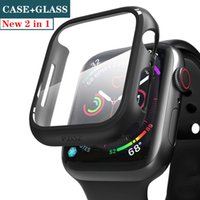 2021 Glass cover For Apple Watch case 44mm 40mm iWatch 42mm 38mm Screen Protector bumper Accessories for apple watch serie 5 4 3 SE 6 44