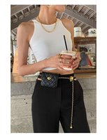 Gürtel Damen Mädchen Faux Leder Seil Kette Ball Metall Mini Pack Tasche Tasche Taille Gürtel Band Geschenk