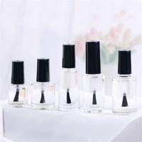 10ml 15ml bouteille de vernis à ongles transparent de verre transparent vide avec un pinceau à couvercle Vide Contenants cosmétiques Bouteilles de verre avec pinceau 369 R2