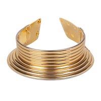 Jerolli Declaración Chic Bobinas Imán Gargantilla Collar Multilapa Cadena de Cuerda Enroscada Kardashian Collar Juran Maxi Jewelry58 Q2