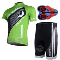 Scott mangas cortas ciclismo camisetas comprimidas con 9d Gel Pantalones de babero acolchados estilo de verano para hombres Tamaño S-4xl Bike Wear 32534