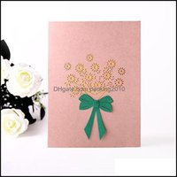 Event Festive Party Home & Garden3D Valentines Day Greeting Cards Postcard Flower Thank Gifts Invitation Love Supplies Wedding Happy You Bir