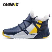 ONEMIX High Top Sneakers For Men New Fashion Winter Warm Wool Ankle Boots Couple Hiking Flats Shoes Outdoor Trekking Snow Boots