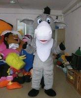 Grauer Esel Maskottchen Kostüm Halloween Weihnachten Phantasie Party Cartoon Charakter Outfit Anzug Erwachsene Frauen Männer Kleid Karneval Unisex Erwachsene