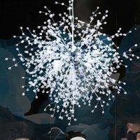 İskandinav sanatsal led akrilik karahindiba avize tavan asılı lambalar dekoratif fikstür aydınlatma ev mağaza bar sanat ışıkları avizeler
