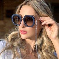 Sonnenbrille Frames Twist Metal Lange Gläser Ketten Riemen Schnur Eyewear Lanyard Mask Kette Halter Gummi Modeschmuck Zubehör
