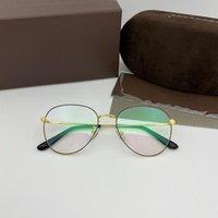 빈티지 라운드 톰 남자 광학 안경 프레임 TF5631 Ford 패션 금속 여성 근시 처방 안경 프레임 선글라스
