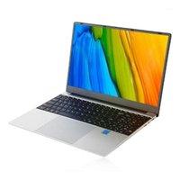 الكمبيوتر المحمول 15.6 بوصة 8 جرام رام 128 جيجابايت SSD المحمولة رقيقة جدا رباعية النواة HD دفتر الاتحاد الأوروبي المكونات