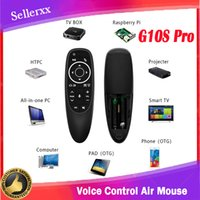 G10S Pro Voice Control Air Mouse with Gyro Sensing Mini Wireless Smart Remote Backlit for Android TV Box PC H96 Max Wholesale