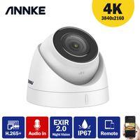 كاميرات Annke 1PC Ultra HD 8MP PoE كاميرا 4K IP67 شبكة الأمن مانعة لتسرب الماء قبة exir للرؤية الليلية البريد الإلكتروني تنبيه الصوت في CCTV