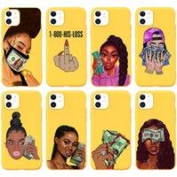Afro Black Girl Magic Queen Telemel Cases Cases Melanin Poppin progettato Caso Make Money Cash Cover per iPhone Apple 7 8plus xr x max 11 12