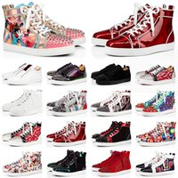 Kırmızı dipler ayakkabı erkekler için moda tasarımcısı tuval ayakkabı sivri loafer'lar süet deri platformu düz erkek eğitmenler rahat sneakers