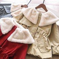 Jackets Lapel Velvet Trench Baby Girls Coat Wholesale Winter 2021