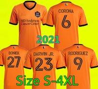 MLS 2021 Houston Soccer Jersey Dynamo FC Home Away 2022 Camisetas de Fútbol 21 22 تيم باركر Boniek Darwin Jr Corona Rodriguez Mateo Bajamich كرة القدم قمصان تايلاند