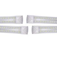 V- شكل t8 أضواء أنبوب led 4ft 35 واط 5ft 45 واط 6ft 56 واط 8ft 72 واط 2.4 متر مدمجة برودة الباب الفلورسنت الإضاءة مزدوجة 25 حزمة usalight