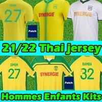 21/22 Maillots FC Nantes Etoile Futbol Formaları 2000-01 Şampiyonlar Yeniden Baskı Simon Kolo Girotto Coulicy Blas MUANI 2021 2022 Erkekler Çocuklar Futbol Gömlek Maillot de Foot