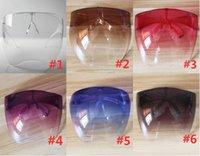 Dhl سفينة واضح أقنعة الوجه واقية درع الناجل نظارات السلامة المياه نظارات مكافحة رذاذ قناع واقية حملق الزجاج النظارات FY8334