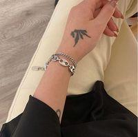Fashion Spliced Pig Nose Chain Bracelet Can Adjust The Wrist Size Link Bracelets