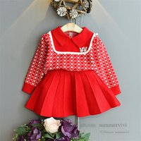 Christmas girls knitted clothing sets kids diamond lattice rabbit applique sweater pullover+knit pleated skirt 2pcs preppy style children outfits Q2821