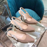 Sandalias de tacón alto Gladiador de cuero Sandalia para mujer Tacones delgados Tacones delgados Zapatos Zapatos Moda Moda Sexy Carta Paño Shadess Shadess con caja grande Tamaño 34-42