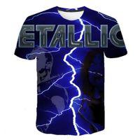 Metallo metallica Metallica Band METALLO ROCK 3D T-shirt manica corta T-shirt da uomo