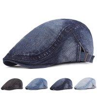 Erkekler Cap Peaky Blinders Katı Bere Şapkalar Kadınlar Için Golf Sürüş Güneş Düz Demin Gatsby Ivy Şapka Yaz Cabbie Sboy