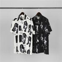 Beyaz Siyah Gömlek Erkekler Kadınlar 1 Yüksek Kaliteli Dijital Moda Rahat Baskı Tees Streetwear Yaz Tarzı