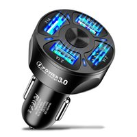 Car USB Charger For Phone Quick Charge 3.0 Universal Fast Charging in car 4 Port Mobile Phone Charger For Samsung S20 Xiaomi Huawei