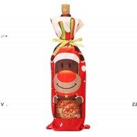 크리스마스 레드 와인 병 커버 가방 눈사람 칸타 클로스 휴일 샴페인 병 커버 장식 홈 BWE10463에 대 한 장식