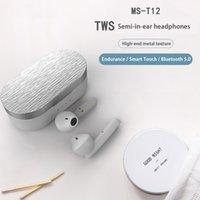 Cuffie wireless BT5.0 T12 TWS TWS Auricolari Bluetooth HiFi Stereo LED Display Touch Control IPX5 Auricolari impermeabili per iPhone 12 Pro Max Huawei Xiaomi Samsung