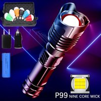 Flashlights Torches LED XHP99 Lamp Beads Torch 5 Lighting Modes Lantern High Power Rechargeable Flashlighting Bike Light By 26650