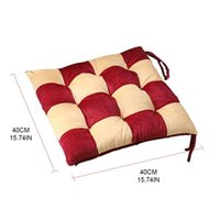 Cushion Decorative Pillow 95 40x40cm Square Splicing Thickened Cotton Chair Cushion Home Kitchen Office Patio Seat Pad Non-Slip Dining Sto