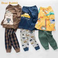 Baby Kids Pajamas Sets Cotton Boys Sleepwear Suit Autumn Girls Pajamas Long Sleeve Pijamas Tops Pants 2pcs Children Clothing 210923